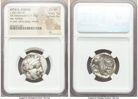 ATTICA. Athens. Ca. 440-404 BC. AR tetradrachm (23mm, 17.15 gm, 10h). NGC Choice VF 3/5 - 4/5. Mid-mass coinage issue. Head of Athena right, wearing c...