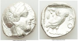 ATTICA. Athens. Ca. 440-404 BC. AR tetradrachm (24mm, 17.16 gm, 9h). VF. Mid-mass coinage issue. Head of Athena right, wearing crested Attic helmet or...