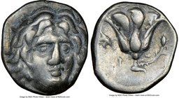 CARIAN ISLANDS. Rhodes. Ca. 275-250 BC. AR drachm (15mm, 10h). NGC VF. Erasicles, magistrate. Head of Helios facing, turned slightly right, hair parte...