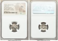 LYCIAN LEAGUE. Masicytes. Ca. 1st century BC. AR hemidrachm (15mm, 1h). NGC AU. Ca. 48-20 BC, Series 1. Laureate head of Apollo right; Λ-Y below / M-A...