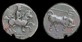 THESSALY, Krannon, circa 350-300 BCE, AE chalkous. 2.41g, 15.4mm.