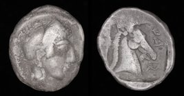 "THESSALY, Pharsalos, mid to late 5th century BCE, AR ""hemidrachm"". 2.80g, 15mm.