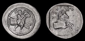 THESSALY, Trikka, circa 425-400 BCE, AR hemidrachm. 2.68g, 16.8mm. 