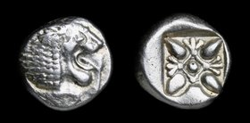 IONIA, Miletos, late 6th-early 5th century BCE, AR obol. 1.21g, 9mm.