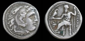 KINGS of MACEDON: Philip III Arrhidaios (323-317 BCE), AR drachm in the name and types of Alexander III, issued under Menander or Kleitos 322-319. Mag...