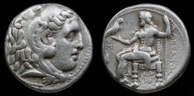 SELEUKID KINGDOM: Seleukos I Nikator (312-281 BCE) AR tetradrachm in the name and types of Alexander III of Macedon, issued 311-300. Babylon, 17.14g, ...