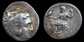 SELEUKID KINGDOM: Seleukos I Nikator (312-281 BCE), AR tetradrachm in the name and types of Alexander III of Macedon, issued 311-300. Babylon, 16.98g,...