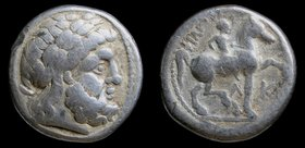 CELTIC: Eastern Europe, Lower Danube Celts, AR tetradrachm, late 4th c. BCE, imitation of Philip II of Macedon. 14.29g, 25mm.