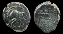 MACEDON, Thessalonica, Pseudo-autonomous, c. 168-31 BCE, AE 22. 7.96g, 18-22mm.