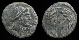 MACEDON, Thessalonica: Mark Antony and Octavian, issued year 5 = 37 BCE, AE22. 9.96g, 22mm.