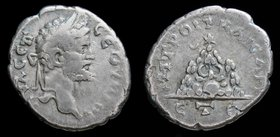 CAPPADOCIA, Caesarea: Septimius Severus (193-211), AR drachm. 2.80g, 17-19mm.