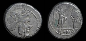 Anonymous AR Victoriatus, issued after 211 BCE. Rome, 3.53, 17mm.