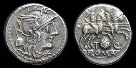 T. Quinctius Flamininus, 126 BCE, AR denarius. Rome, 3.91g, 18mm.