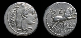 L. Thorius Balbus, 105 BCE, AR denarius. Rome, 3.91g, 18mm. 