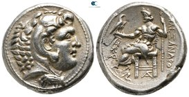 Lower Danube. Imitations of Alexander III The Great circa 300-200 BC. Tetradrachm AR