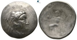 Eastern Europe. Uncertain mint. Imitations of Alexander III and his successors circa 200-100 BC. Tetradrachm AR