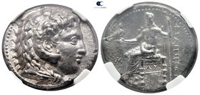 Kings of Macedon. Babylon. Philip III Arrhidaeus 323-317 BC. In the types of Alexander III of Macedon. Struck under Archon, Dokimos, or Seleukos I, ci...