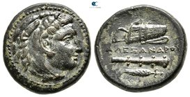 "Kings of Macedon. Uncertain mint in Western Asia Minor. Alexander III ""the Great"" 336-323 BC. Unit Æ"
