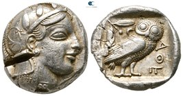 Attica. Athens 459-449 BC. Struck during the period of Cimon's exile and until his death. Tetradrachm AR