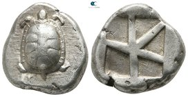 Islands off Attica. Aegina 445-430 BC. Stater AR