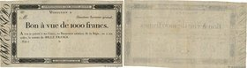 Country : FRANCE  Face Value : 1000 Francs Non émis  Date : (1804)  Period/Province/Bank : Assignats  Catalogue reference : -  Commentary : Administra...