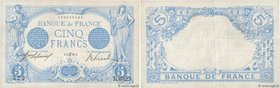Country : FRANCE  Face Value : 5 Francs BLEU  Date : 3 mars 1915  Period/Province/Bank : Banque de France, XXe siècle  Catalogue reference : F.02.25  ...