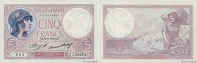 Country : FRANCE  Face Value : 5 Francs VIOLET  Date : 22 juin 1933  Period/Province/Bank : Banque de France, XXe siècle  Catalogue reference : F.03.1...