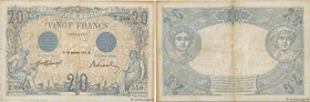 Country : FRANCE  Face Value : 20 Francs BLEU  Date : 18 décembre 1912  Period/Province/Bank : Banque de France, XXe siècle  Catalogue reference : F.1...