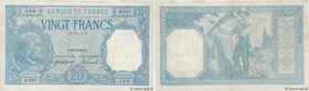 Country : FRANCE  Face Value : 20 Francs BAYARD  Date : 18 septembre 1916  Period/Province/Bank : Banque de France, XXe siècle  Catalogue reference : ...
