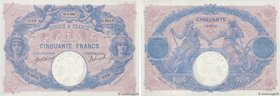Country : FRANCE  Face Value : 50 Francs BLEU ET ROSE  Date : 11 janvier 1915  Period/Province/Bank : Banque de France, XXe siècle  Catalogue referenc...