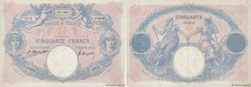 Country : FRANCE  Face Value : 50 Francs BLEU ET ROSE  Date : 12 janvier 1924  Period/Province/Bank : Banque de France, XXe siècle  Catalogue referenc...