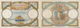 Country : FRANCE  Face Value : 50 Francs LUC OLIVIER MERSON  Date : 22 février 1927  Period/Province/Bank : Banque de France, XXe siècle  Catalogue re...
