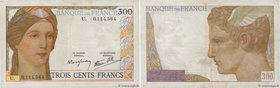 Country : FRANCE  Face Value : 300 Francs  Date : (09 février 1939)  Period/Province/Bank : Banque de France, XXe siècle  Catalogue reference : F.29.0...