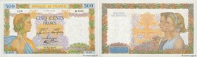Country : FRANCE  Face Value : 500 Francs LA PAIX  Date : 29 janvier 1942  Period/Province/Bank : Banque de France, XXe siècle  Catalogue reference : ...