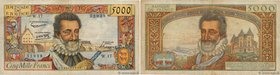 Country : FRANCE  Face Value : 5000 Francs HENRI IV  Date : 06 juin 1957  Period/Province/Bank : Banque de France, XXe siècle  Catalogue reference : F...