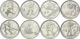 2007-2008 Costa Rica Set 6 Coins G-1 AUNC-UNC 5 10 25 50 100 500 Colones