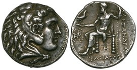 Kings of Macedon, Alexander III (336-323 BC), tetradrachms (2), mints of Babylon and an uncertain mint in Asia Minor, 17.02g and 17.14g (Price 3704 an...