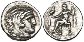 Kings of Macedon, Alexander III (336-323 BC), plated tetradrachm, Miletos, 13.16g, die axis 1.00 (cf. Price 2099), cleaned, very fine