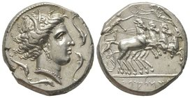 Tetradrachm, Sicily 380-330 BC, AG 17.25 g. Ref : Jenkins, SNR 50 (1971) 41 (these dies), Jameson 730 (these dies) Provenance : Tkalec, 2007, lot 29 E...