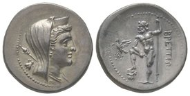 Drachm, 216-214 BC, AG 4,42 g Ref : Arslan dies 21/43 (unlisted combination); Scheu 84; HN Italy 1970; SNG ANS 26 (same obv. die); SNG Lloyd 542 (same...