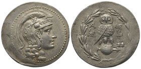 Tetradrachm, Athen, 154/153 BC, AG 16,86g. Ref : Thompson 59a, SNG Cop. 115 Provenance : NGSA 4, 11-12/12/2006, Lot 76 Extremely fine