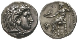 Alexander the Great (336-323) Tetradrachm, Memphis (Egypt), 332-323 BC, AG 17,17 g. Ref : Muller 124, Price, 3971. Provenance : NGSA 5, 2-3. 12.2008, ...