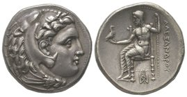 Tetradrachm, Miletus, 323-319 BC, 17.05g. Ref : Price 2177 Provenance : LHS 100, 23-24/04/2007, lot 219 From the collections of R. Maly, E.G. Spencer ...