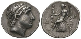 Antiochos I Soter (281-261 BC) Tetradrachm, Seleukeia on the Tigris mint, 274-270 BC, AG 17,10 g. Ref : Newell, the Coinage of teh Eastern Seleucid Mi...