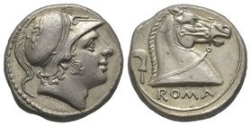 Romano Campanian, Didrachm, Rome, 241-235 BC, AG 6,59 g. Ref : Cr. 25/1, Syd. 24, BMC 57. Provenance : Tkalec, 22/04/2007, lot 124 Almost uncirculated...