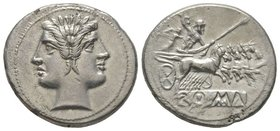 Anonymous, Didrachm, Rome, 225-212 BC, AG 6,39 g. Ref : Cr. 28. Extremely Fine