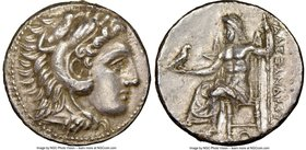 MACEDONIAN KINGDOM. Alexander III the Great (336-323 BC). AR tetradrachm (28mm, 16.58 gm, 5h). NGC AU 5/5 - 1/5, smoothing. Lifetime or early posthumo...