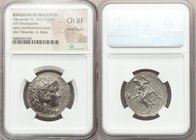 MACEDONIAN KINGDOM. Alexander III the Great (336-323 BC). AR tetradrachm (27mm, 10h). NGC Choice XF, Fine Style. Late lifetime-early posthumous issue ...