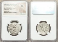 MACEDONIAN KINGDOM. Alexander III the Great (336-323 BC). AR tetradrachm (26mm, 10h). NGC XF. Posthumous issue of Ake or Tyre, dated Regnal Year 28 of...