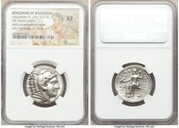MACEDONIAN KINGDOM. Alexander III the Great (336-323 BC). AR tetradrachm (26mm, 12h). NGC XF. Early posthumous issue of 'Amphipolis', by Antipater, un...